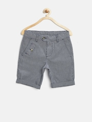 United Colors of Benetton Boys Navy Checked Shorts