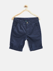 United Colors of Benetton Boys Navy Printed Shorts