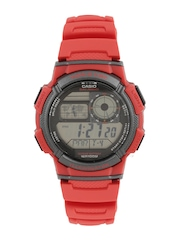 CASIO Youth Series Men Red Digital Watch D120