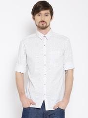 Wrangler White Printed Casual Shirt