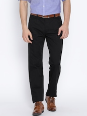 Peter England Black Slim Fit Formal Trousers