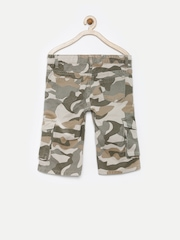 Dreamszone Boys Grey & Brown Camouflage Print 3/4th Cargo Shorts