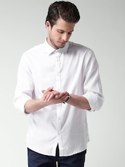 Celio White Smart Casual Shirt