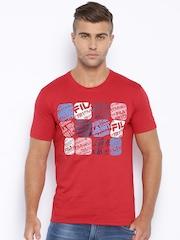 FILA Red Printed T-shirt