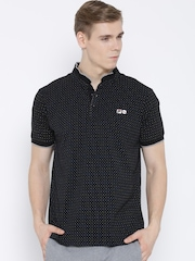 FILA Black Bayside Dot Print T-shirt