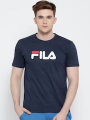 FILA Navy Eagle Logo Print T-shirt