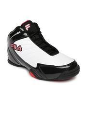 FILA Men White & Black Gambit Basketball Shoes