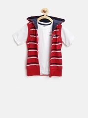 612 League Boys Red & White Clothing Set