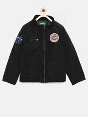 United Colors of Benetton Boys Black Padded Jacket