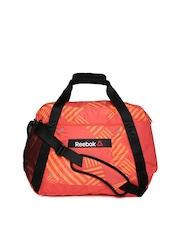 Reebok Women Orange OS GRPH Grip Training Duffle Bag