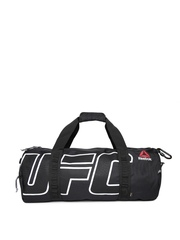 Reebok Unisex Black Combat Grip Printed Duffel Bag