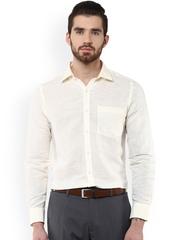 Turtle Cream-Coloured Slim Fit Formal Shirt