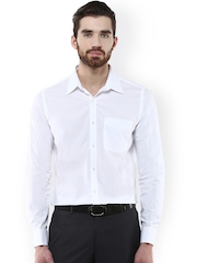 Turtle White Slim Fit Formal Shirt