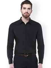 Turtle Black Slim Fit Formal Shirt