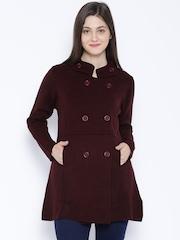 Akkriti by Pantaloons Maroon Coat