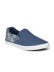 Roadster Blue Printed Slip-Ons