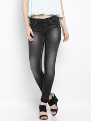 Allen Solly Woman Black Washed Skinny Fit Jeans