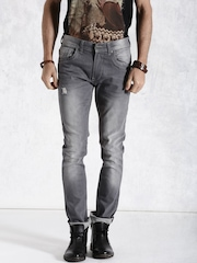 Roadster Grey Washed Jeans