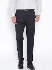 Park Avenue Black Slim Fit Formal Trousers