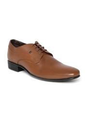 Franco Leone Men Brown Leather Formal Shoes