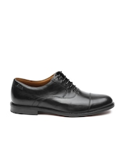 Clarks Men Black Leather Oxfords