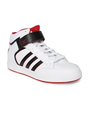Adidas Originals Men White Varial Leather Skateboarding Shoes