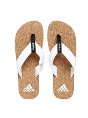 Adidas Men White & Brown Merino Flip-Flops