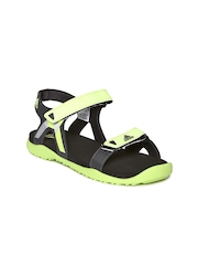 Adidas Women Grey & Fluorescent Green ORSO Sports Sandals