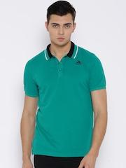 Adidas Green ESS Training Polo T-shirt