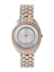 FLUID Women Silver-Toned Embellished Dial Watch 402