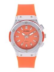 FLUID Unisex Orange Textured Dial Watch 410