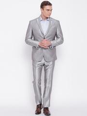 Van Heusen Grey Single-Breasted Slim Partywear Suit