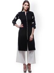 Varanga Black & White Kurta with Palazzo Trousers