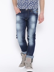 Flying Machine Navy Washed Michael Fit Jeans