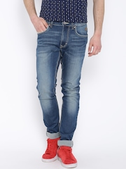 Flying Machine Blue Washed Michael Fit Jeans
