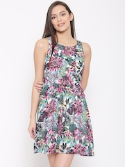 Vero Moda Multicoloured Printed Fit & Flare Dress