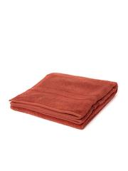 SPACES Swift Dry Rust Orange 100% Nano-Spun Cotton Bath Towel