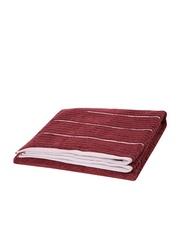 SPACES Exotica Maroon 100% Cotton Ribbed Bath Towel