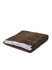 SPACES Exotica Brown Striped Cotton Bath Towel