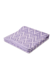 SPACES Lavender Chevron Pattern Cotton Bath Towel