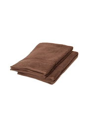 SPACES Swift Dry Brown 100% Cotton Set of 2 Hand Towels
