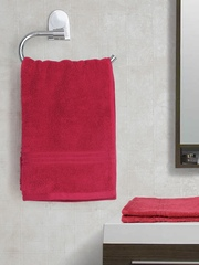 SPACES Red 100% Nano Spun Cotton Set of 2 Hand Towels