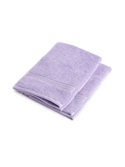 SPACES Lavender 100% Nano Spun Cotton Set of 2 Hand Towels
