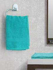 SPACES Green 100% Nano Spun Cotton Set of 2 Hand Towels