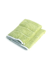 SPACES Green Suite Platinum Micro Cotton Set of 2 Ribbed Hand Towels