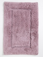 SPACES Mauve Rectangular Hygro Cotton Bath Rug