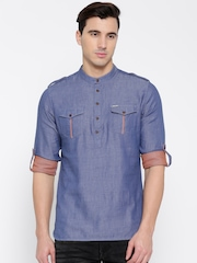 Being Human Clothing Blue Short Pathani Kurta