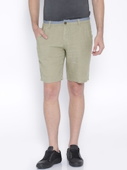 Being Human Clothing Beige Linen Shorts