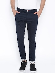 Being Human Clothing Navy Jogger Trousers