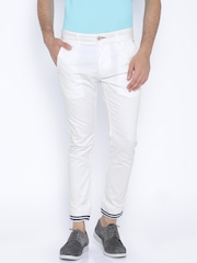 Being Human Clothing White Jogger Trousers